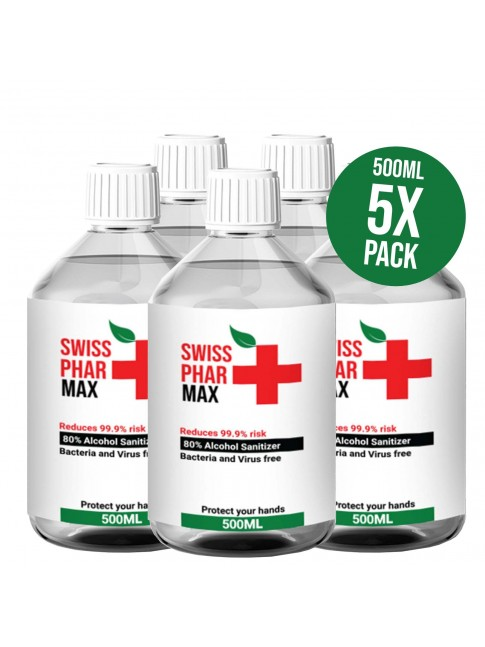 Buy Alcohol Sanitiser 5xPack at Swisspharmax